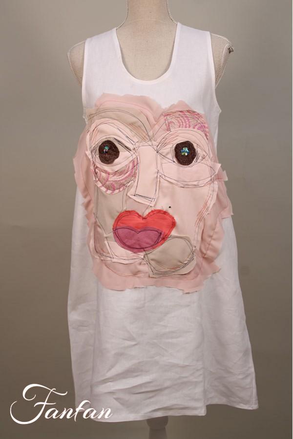 Filly Biz White art dress