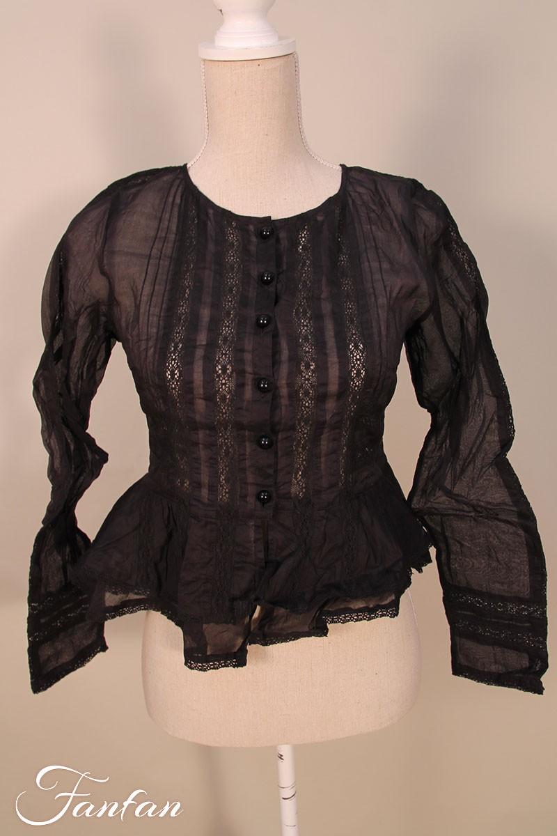vintage schwarz top