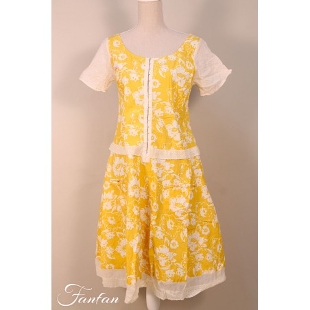 Ewa I Walla Kleid 55642 Yellow Flower Original