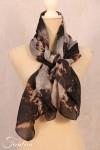 Privatsachen Silk Scarf Wassehr Kaviar Tie and dye