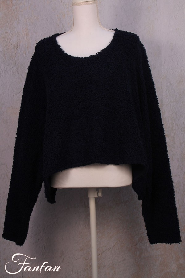 Privatsachen Pullover Helga in teddy cotton Sehnen
