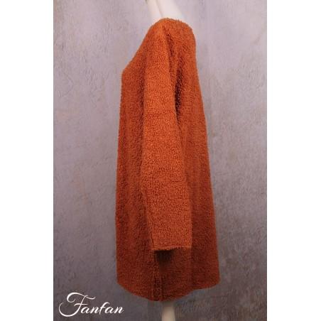 Privatsachen Einheiter long sweater in teddy cotton Wurzel