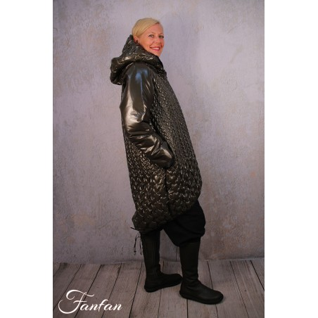 Mara Gibbucci Manteau vert flash avec capuche 52-23
