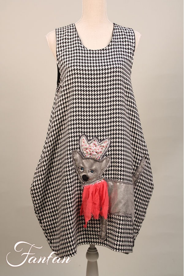 Filly Biz Dress houndstooth sleeveless Princess doggie WFB9