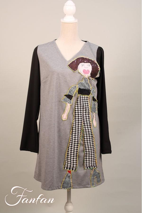 Filly Biz Dress Houndstooth woman WDR6+C4